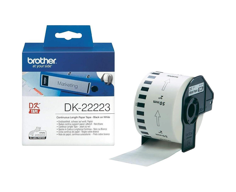 colore nero//bianco Brother DK-22223 Stampante termica