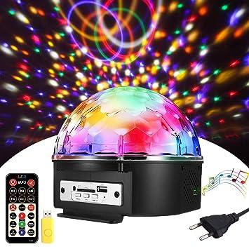 Discokugel Solmore Led Discokugel Kinder Partylicht Disco Lichteffekte 18x18x15cm Mit Fernbedienung Discolicht Projektor Beleuchtung Fur Party