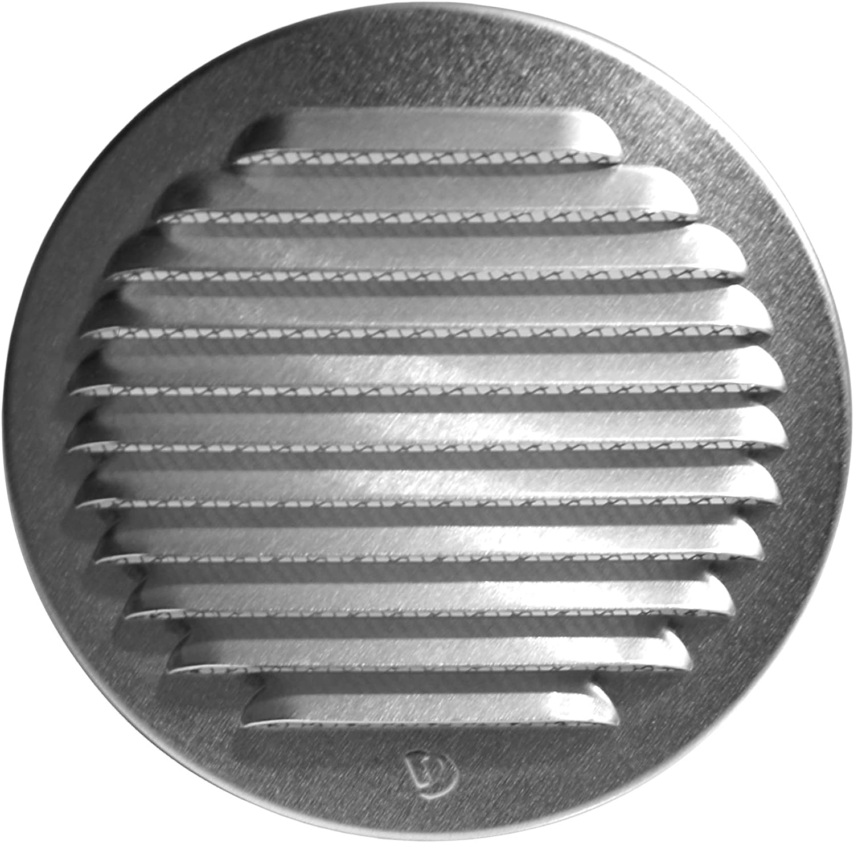 Klimapartner WSGR 160 Grille D/'extraction Ronde en Aluminium Avec Moustiquaire