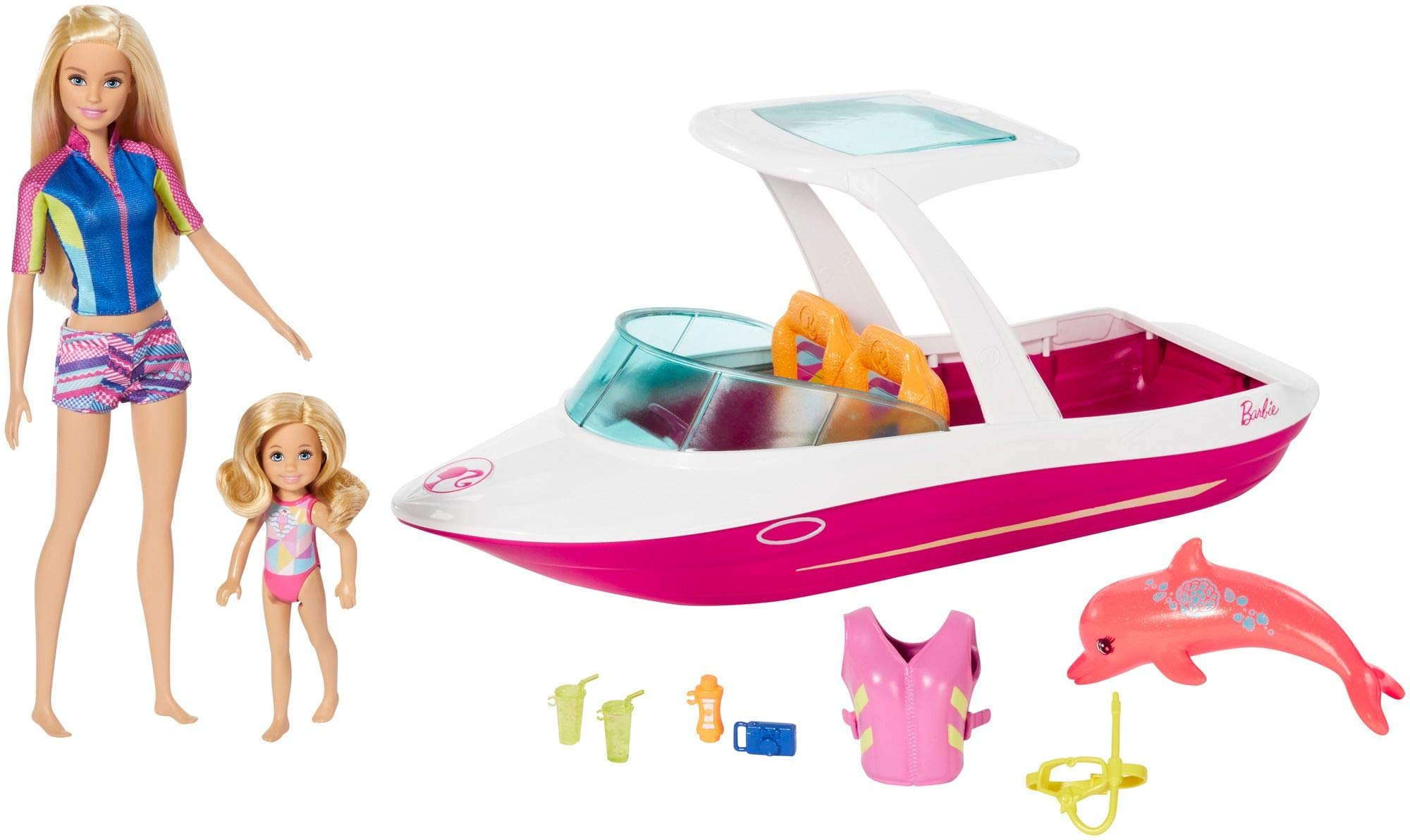 Barbie Dolphin Magic Ocean View Boat & Doll Giftset by Barbie