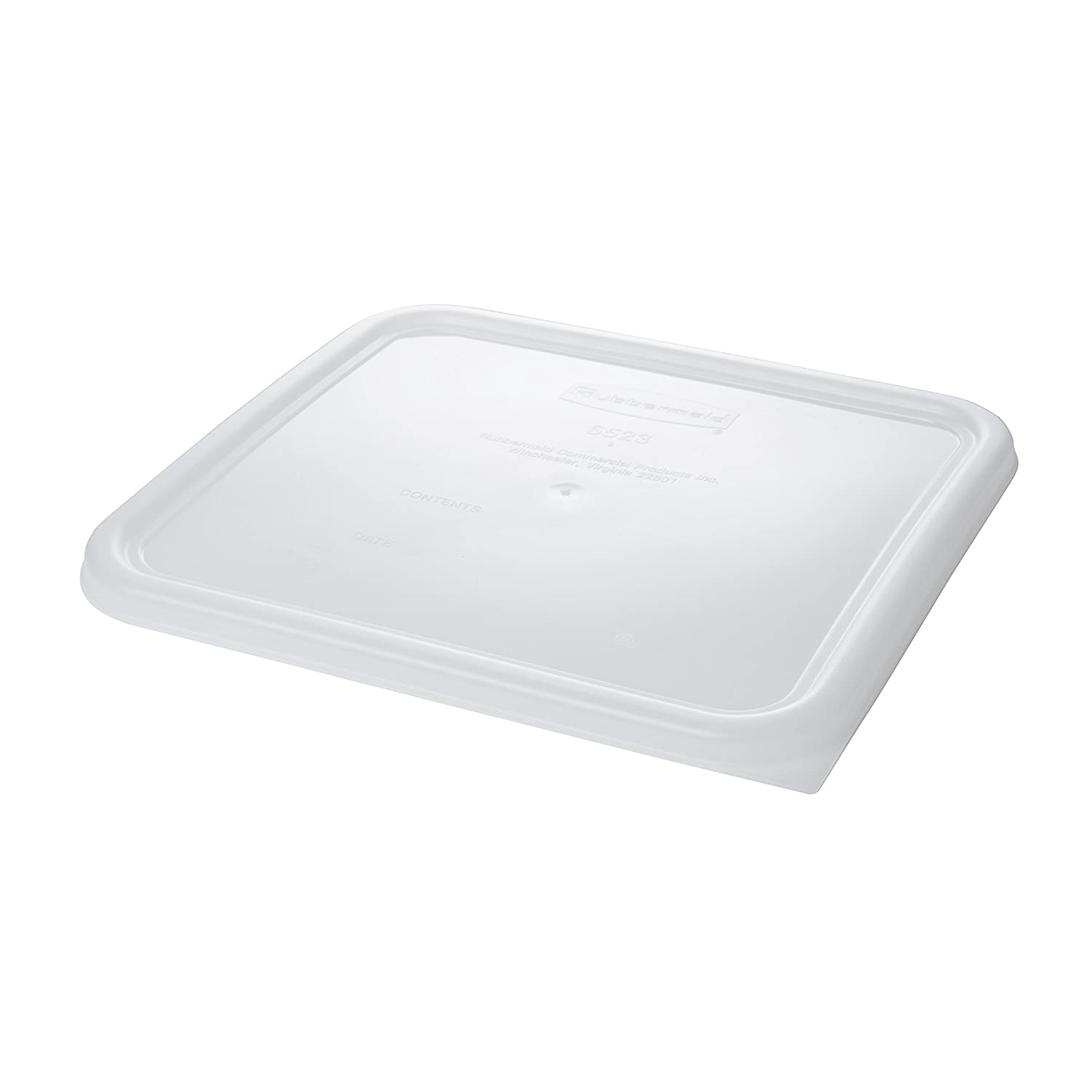 Rubbermaid Commercial Products FG652300WHT Lid SQ SSC (Pack of 6)