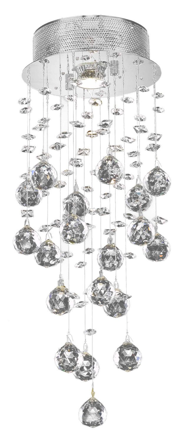 Galaxy Collection 1-Light Chrome Fix With Clear Swarovski Strass Crystal