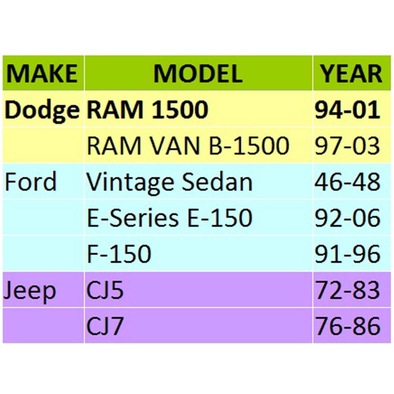 Jeep CJ5 72-83 WEELTK 4 Wheel Spacers 2 Thick 1//2 Studs 5x5.5 Fit Dodge RAM 1500 94-01 CJ7 76-86 Ford F-150 91-96