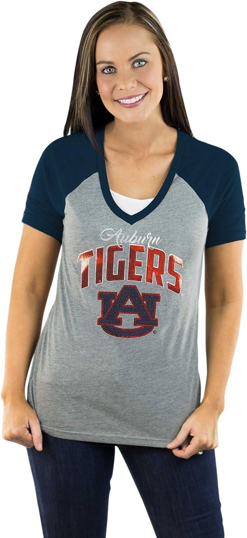 NCAA Womens Short Sleeve V Neck Raglan Tee