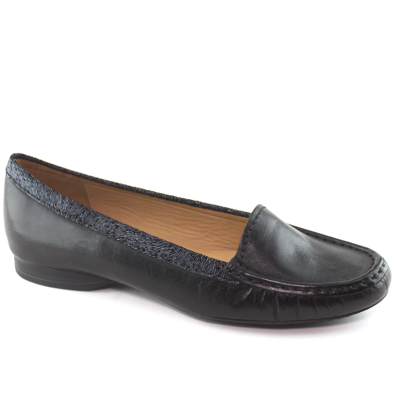 Driver Club USA Women's Genuine Leather Made in Brazil Portland Fashion Comfortable Black Napa Loafer 8.5