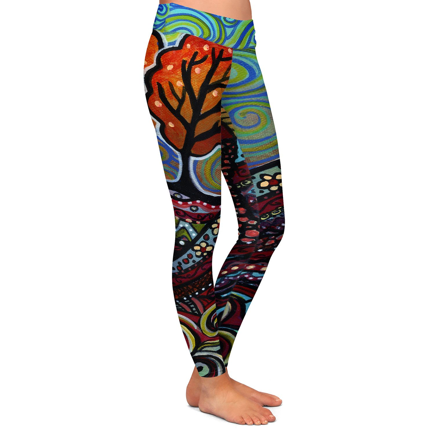 Athletic Yoga Leggings from DiaNoche Designs by Ann Marie Cheung Happy House