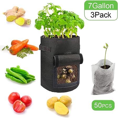 UK Fabric Potato Grow Bag Plant Tomato Sack Spuds Root Pot Bags Vegetable Garden