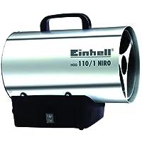 Einhell Heißluftgenerator HGG 110/1 Niro (Nennwärmeleistung 10 kW, Heizmantel aus verzinktem Stahlblech, Piezozündung, Druckregler, Tragegriff)