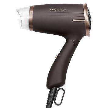 ProfiCare HT 3009 - Secador de pelo de viaje con mango plegable, 2 niveles potencia