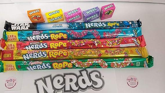 Cesto de caramelos Nerds Candy Town | Cuerdas Nerds, Nerds Mini Sweet – 10 artículos de regalo – CT10: Amazon.es: Alimentación y bebidas