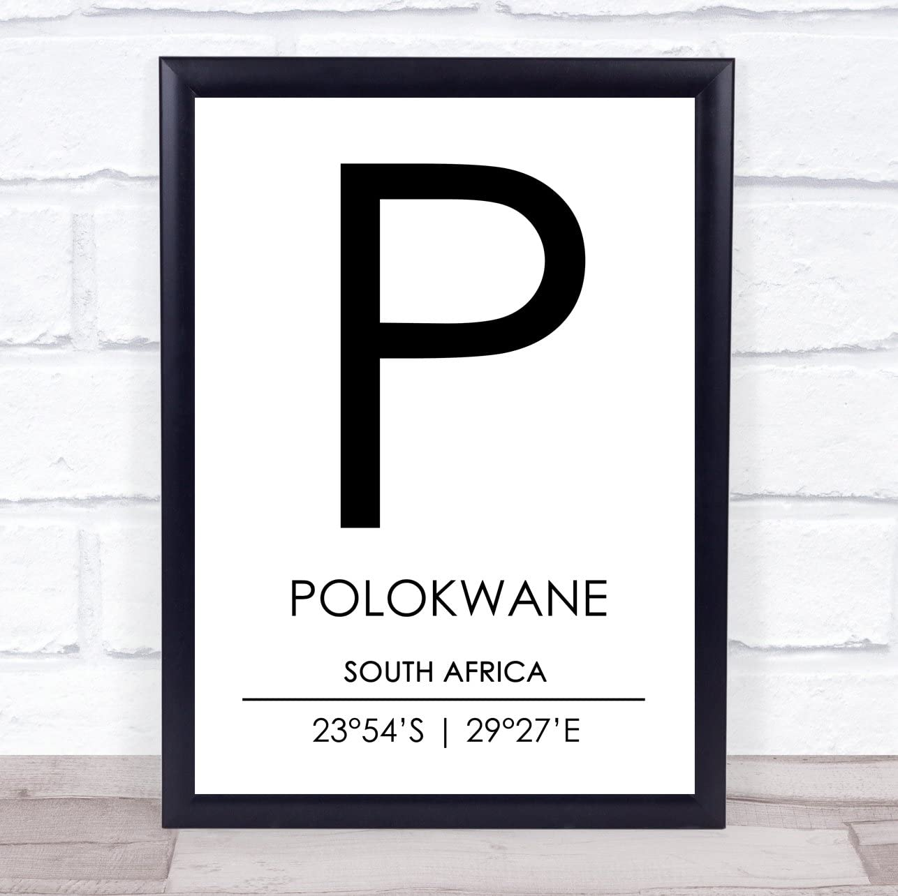 Amazon Com Polokwane South Africa Coordinates World City Travel Quote Wall Art Print Office Products