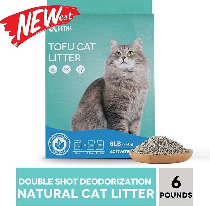 Arena para gatos Tofu, arena natural para gatitos sin perfume, ultragrupa para gatos múltiples, sabor original con carbón activado, fórmula cero polvo, pellets biodegradables de bajo seguimiento, 5.5 lb: Amazon.es: Productos para