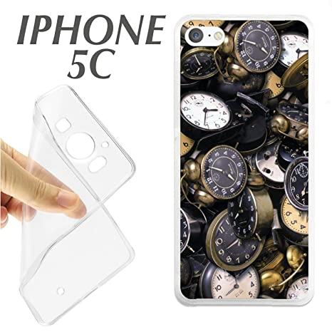 J364 IPHONE 5C CARCASA FUNDA TPU FOTO RELOJES ANTIGUOS VINTAGE TIEMPO HORA
