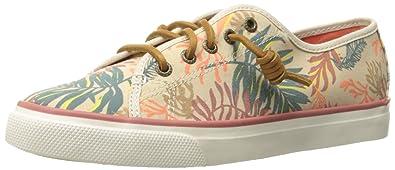 Womens Sperry Top-sider Seacoast Seaweed Print Sneakers Sand Multi OJY84206