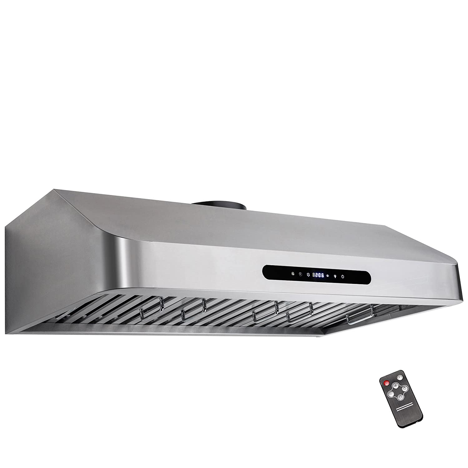 """AKDY 30"""" Under Cabinet Stainless Steel Kitchen Cooking Fan Range Hood Gas Sensor Remote Control Stove Vent"""