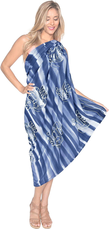 LA LEELA Rayon Verpackung Pareo Badeanzug Frauen gedruckt Schwimmen Sarong