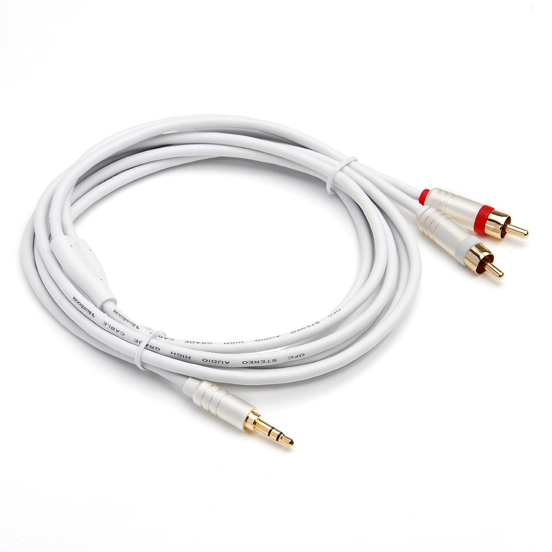 Cables de Audio BlueRigger 3.5MM-RCA-12FT 3.6m 3.5mm 2 x RCA Cable de Audio 3.5mm, Macho, 2 x RCA, Macho, 3,6 m