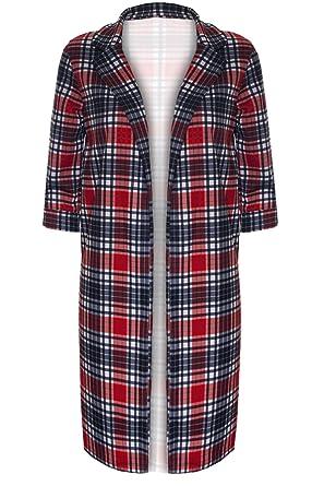 37385cd97738b Be Jealous Women's Animal Print Longline Open Front Jacket Blazer Cardigan  Coatigans Small (US 4