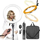 """LimoStudio 18"""" Ring Light Dimmable Fluorescent Continuous Lighting Kit 5500K Photography Photo Studio Light Stands with…"""