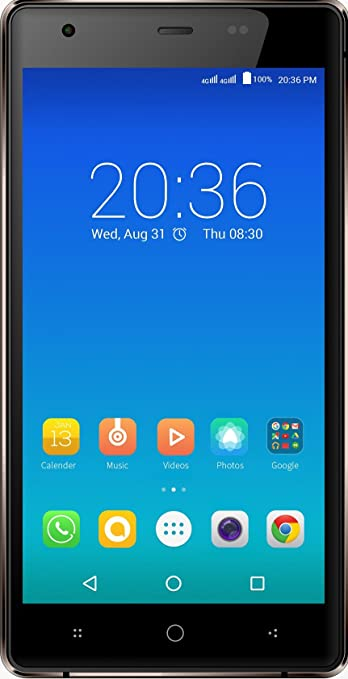 Micromax Canvas 5 Lite Q462 (Brown) Smartphones at amazon