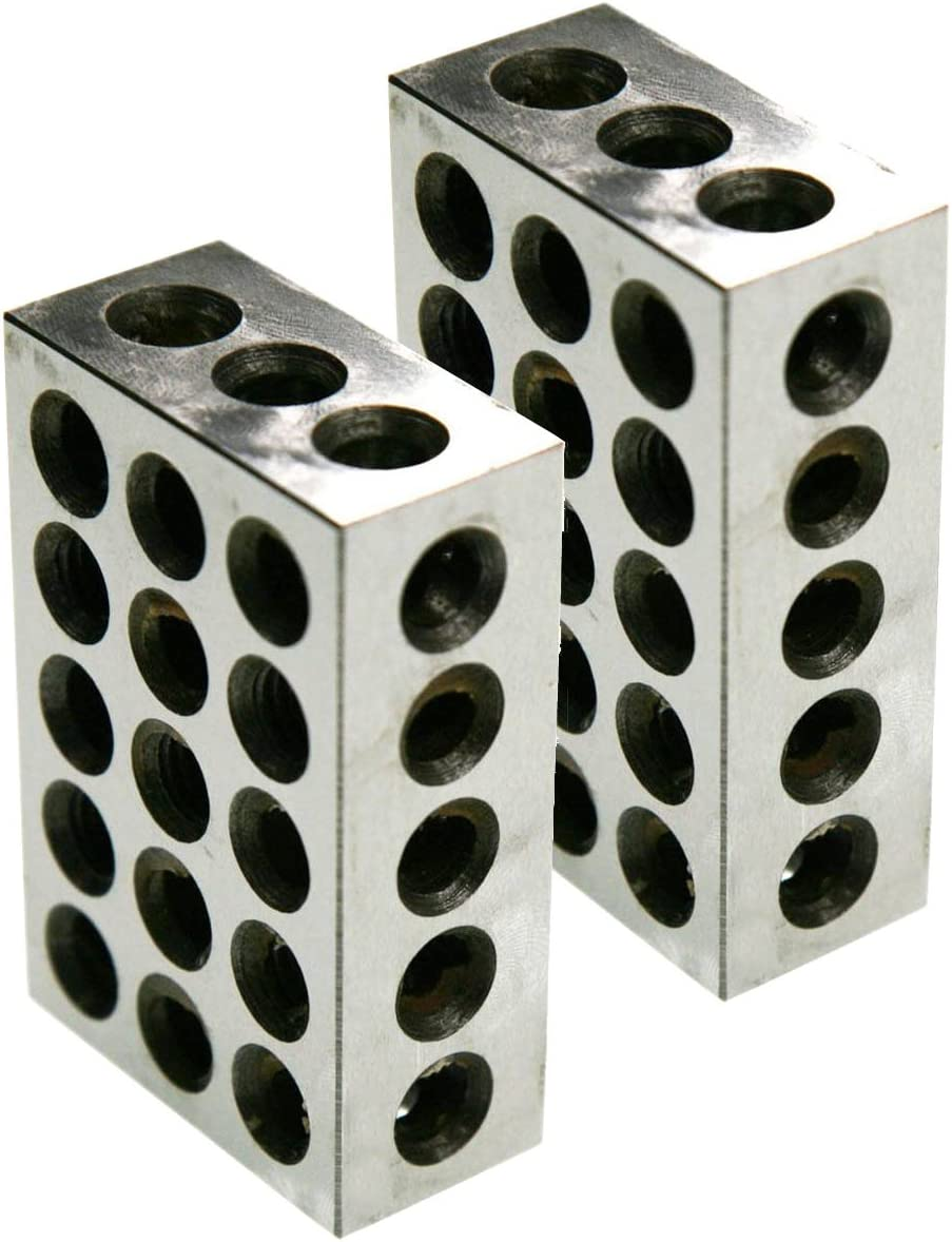 "1 Pairs of 1-2-3 Block Set 0.0002/"" Precision 23 Holes for Toolmaker Machinist"