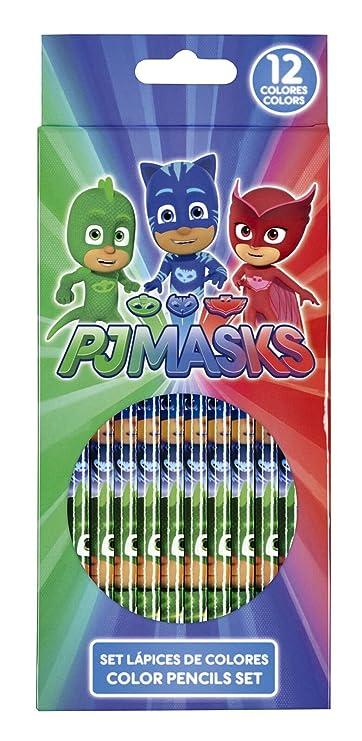 PJ Masks Set de escritura, plumas de sello y lápices de colores: Amazon.es: Oficina y papelería