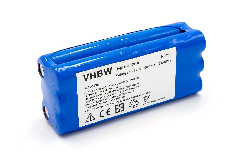 vhbw Batería NiMH 1500mAh (14.4V) para Robot Limpieza doméstica Dirt Devil M606, M606-1, M606-2, M606-3, M606-4, M607, M610, M611, M612 como R1-L051B.