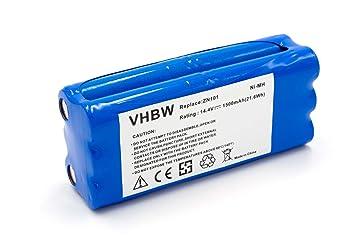 vhbw Batería NiMH 1500mAh (14.4V) para robot aspidador doméstico Ecovacs Dibea K6, L6, ZN101, Aircraftvacuums Pilot como R1-L051B.: Amazon.es: Hogar