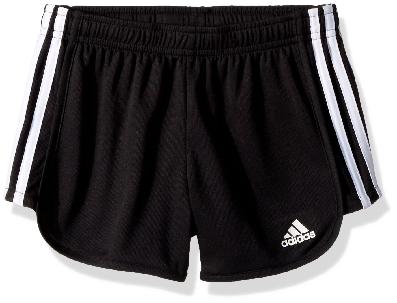 adidas Big Girls' Athletic Shorts, Black Adi, Medium