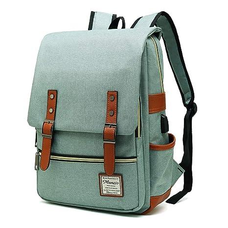 12f2e933731 Amazon.com  Mancio Slim Laptop Backpack with USB Charging Port ...