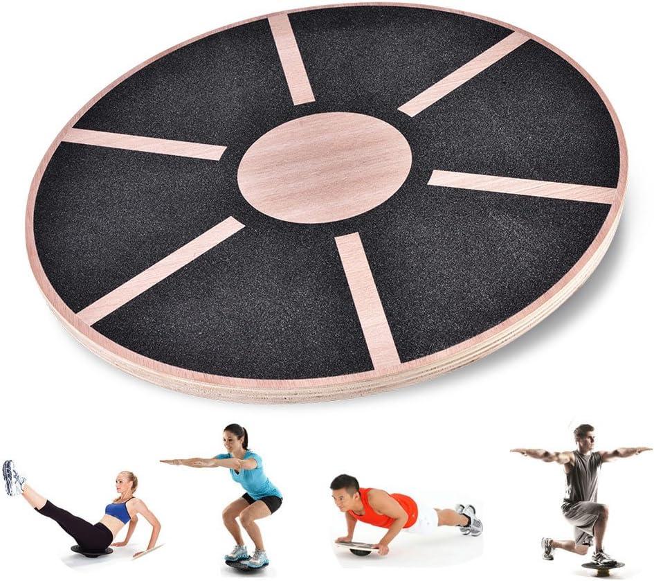 Alomejor Balance Board en Bois Wobble Board Entra/îneur /à la Stabilit/é de la Balance pour la Gymnastique Sportive