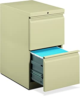 product image for HON 33823RS 22-7/8-Inch Efficiencies Mobile Pedestal File with 2 File Drawers, Putty