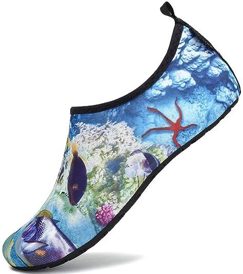SAGUARO Zapatos de Agua Hombre Mujer Zapatos de Piel descalza para Surf Swim Beach Playa Yoga