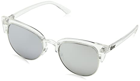 452c0c197b801 Image Unavailable. Image not available for. Colour  Quay Women s Mirrored  Avalon QU-000126-CLR SLV Clear Cat Eye Sunglasses