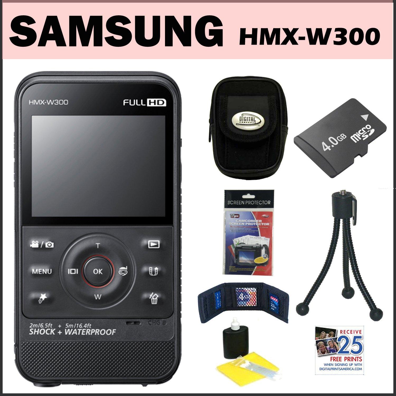 Amazon.com : Samsung HMX-W300 Waterproof HD Pocket Camcorder Black + 4GB  Micro SD + Flexible Mini Tripod + Accessory Kit : Underwater Camcorders :  Camera & ...
