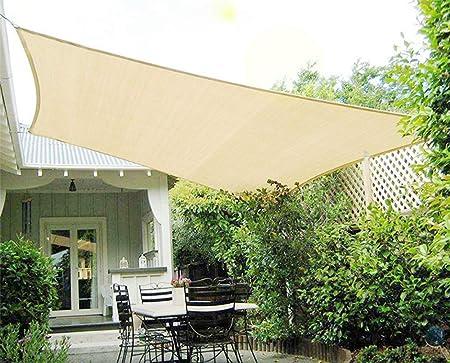 zhangchao Sun Shade Sail Canopy Rectangle UV Bloque,Canopy Sail Shade para Jardín Instalaciones Y Aire Libre,Panel Tela De Sombra para Flores, Plantas, Patio Césped,B3×4m: Amazon.es: Hogar