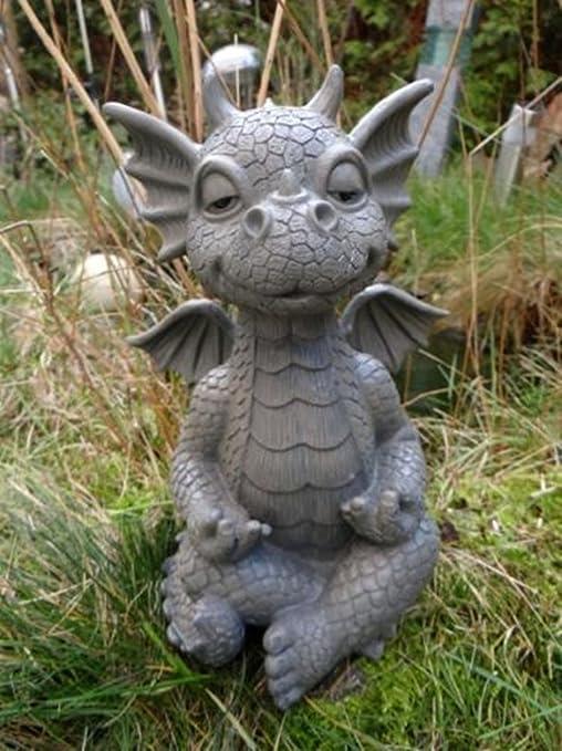 SSITG XXL jardín Dragón meditiert Yoga hojas dragón Figura Jardín Figura: Amazon.es: Jardín