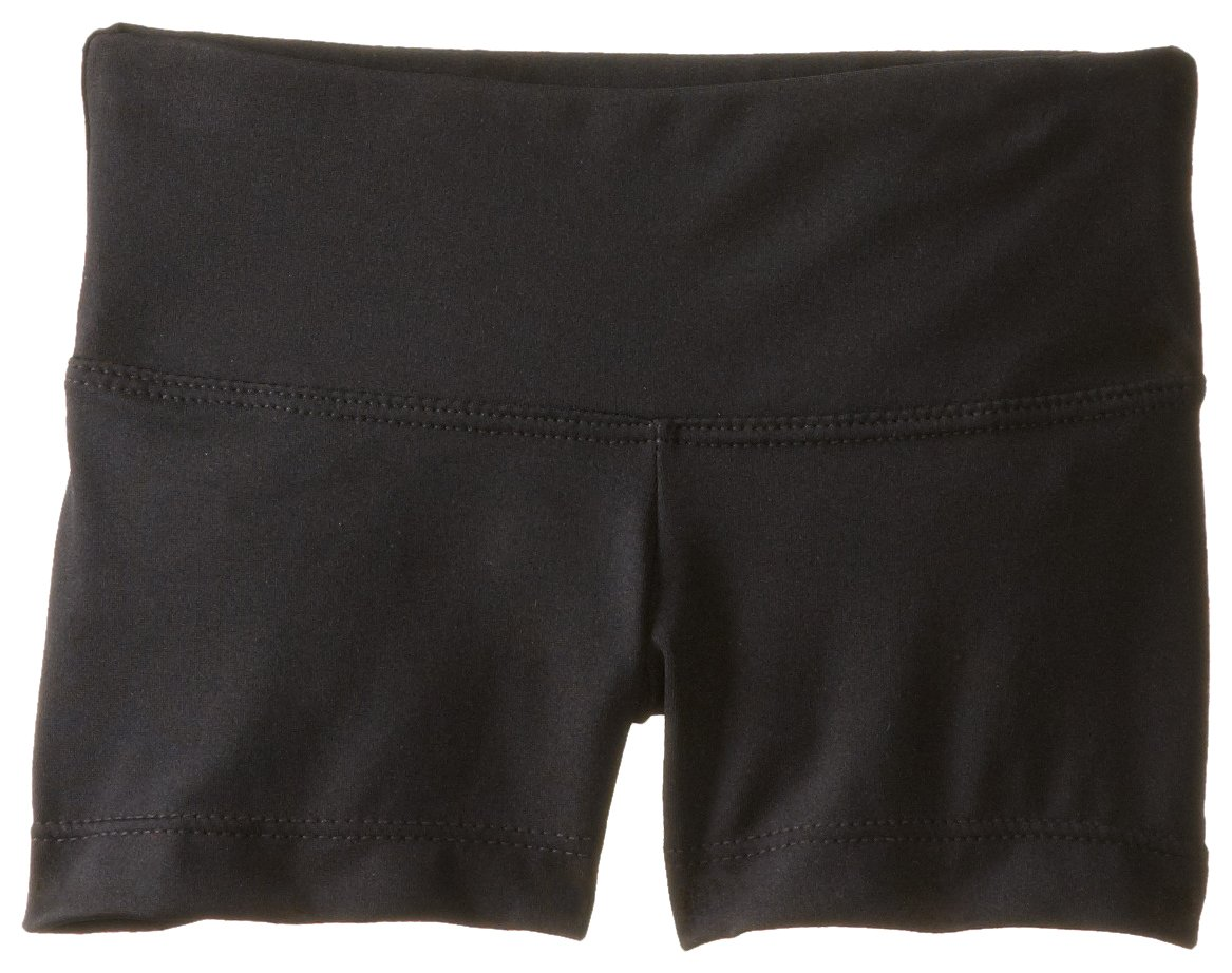 Capezio Big Girls' Team Basic Gusset Short, Black, Large