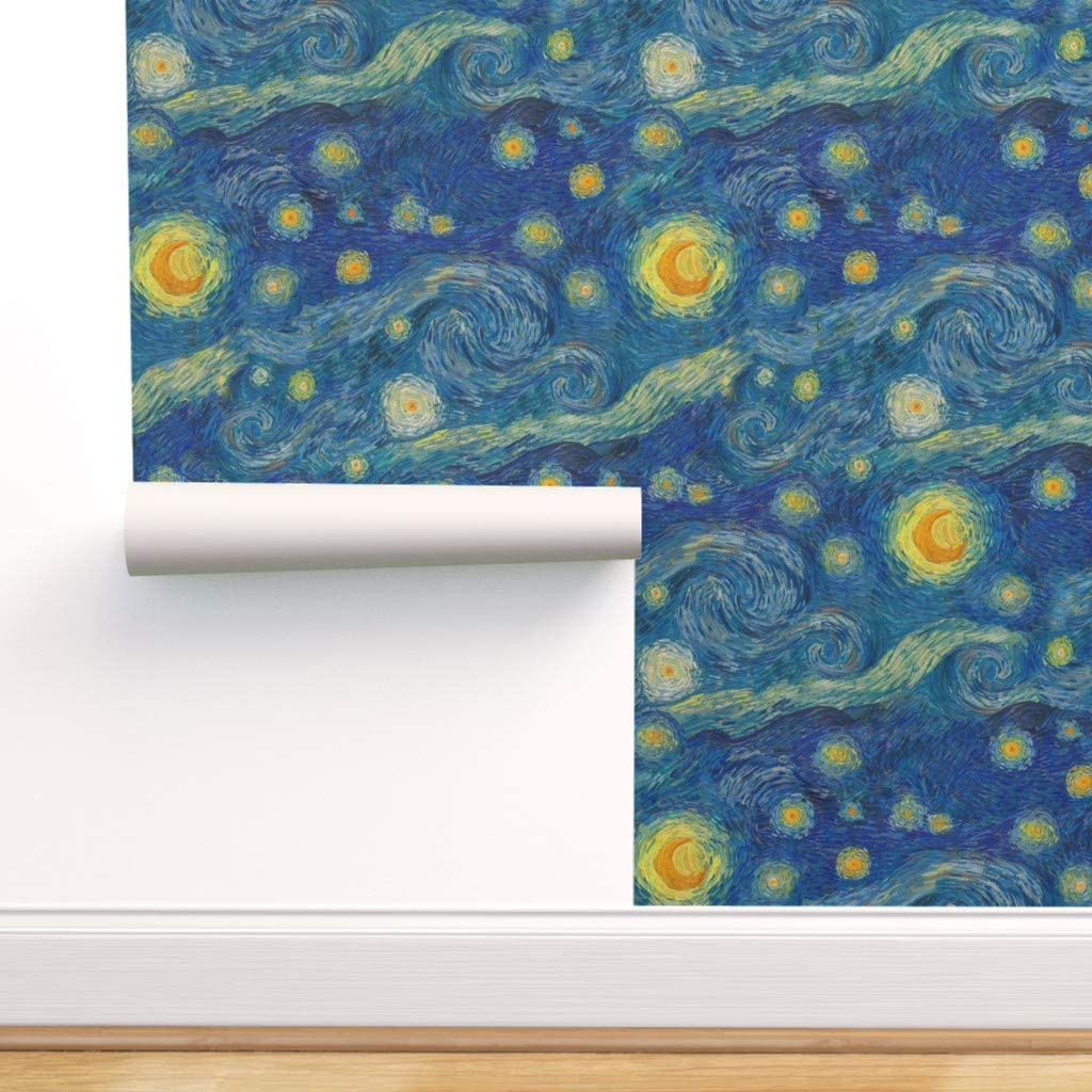 Spoonflower Pre Pasted Removable Wallpaper Vincent Moon