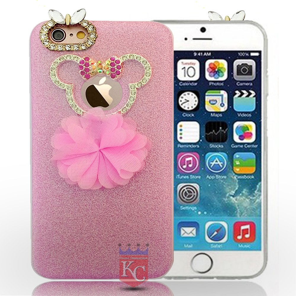 timeless design f4030 20ba5 iPhone 5s Case - Cute Diamond Teddy Face with Pink: Amazon.in ...