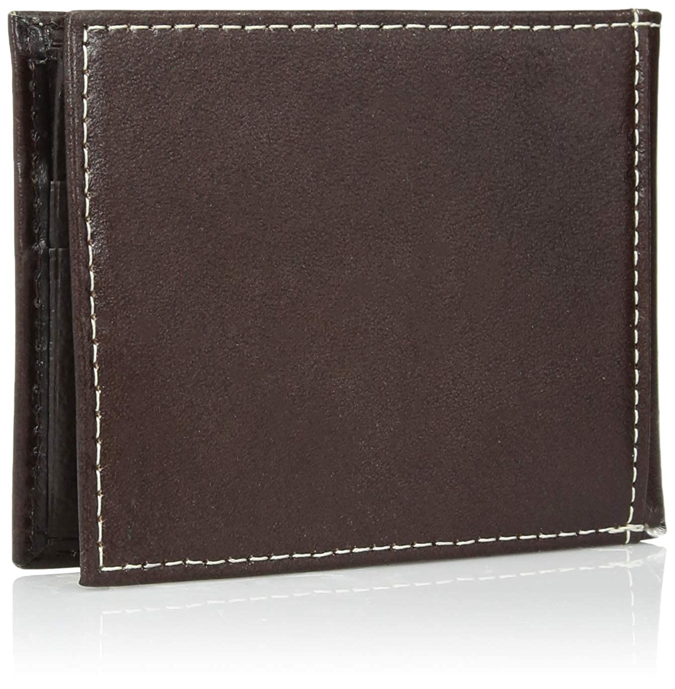 Ariat Unisex-Adults Floral Inlay Buck Edge Bifold Wallet brown