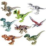 BeneGlow 8 Sets Liftlike Multicoloured 3D Jigsaw Puzzles Mini Dinosaur Building Blocks for Children
