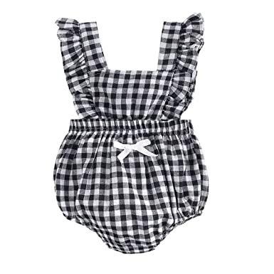 Mother & Kids Baby Girl Elastic Jumpsuit Princess Bodysuit Outfit Garment With Bow 0-24m
