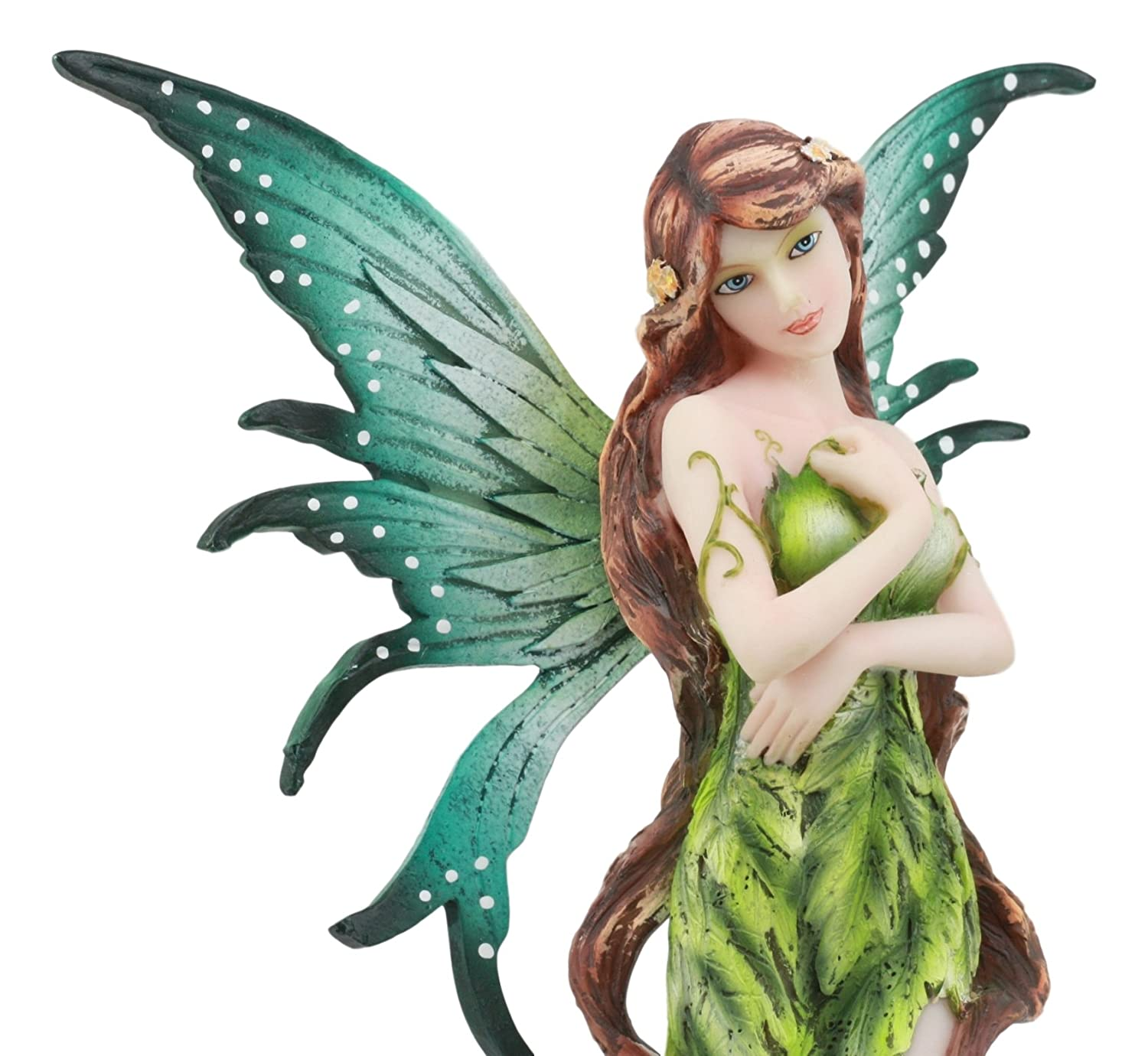 Ebros Mother Earth Gaia Forest Fairy Statue 11 Tall Enchanted Pixie Fae Green Fairy With Root Legs Fantasy Sculpture