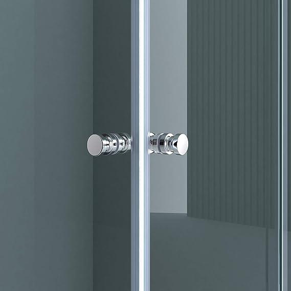 Sogood: Cabina de ducha de esquina Rav16K 75x75x190 Mampara de vidrio de seguridad templado de 6mm transparente, incuye plato de ducha   puerta corredera: Amazon.es: Bricolaje y herramientas