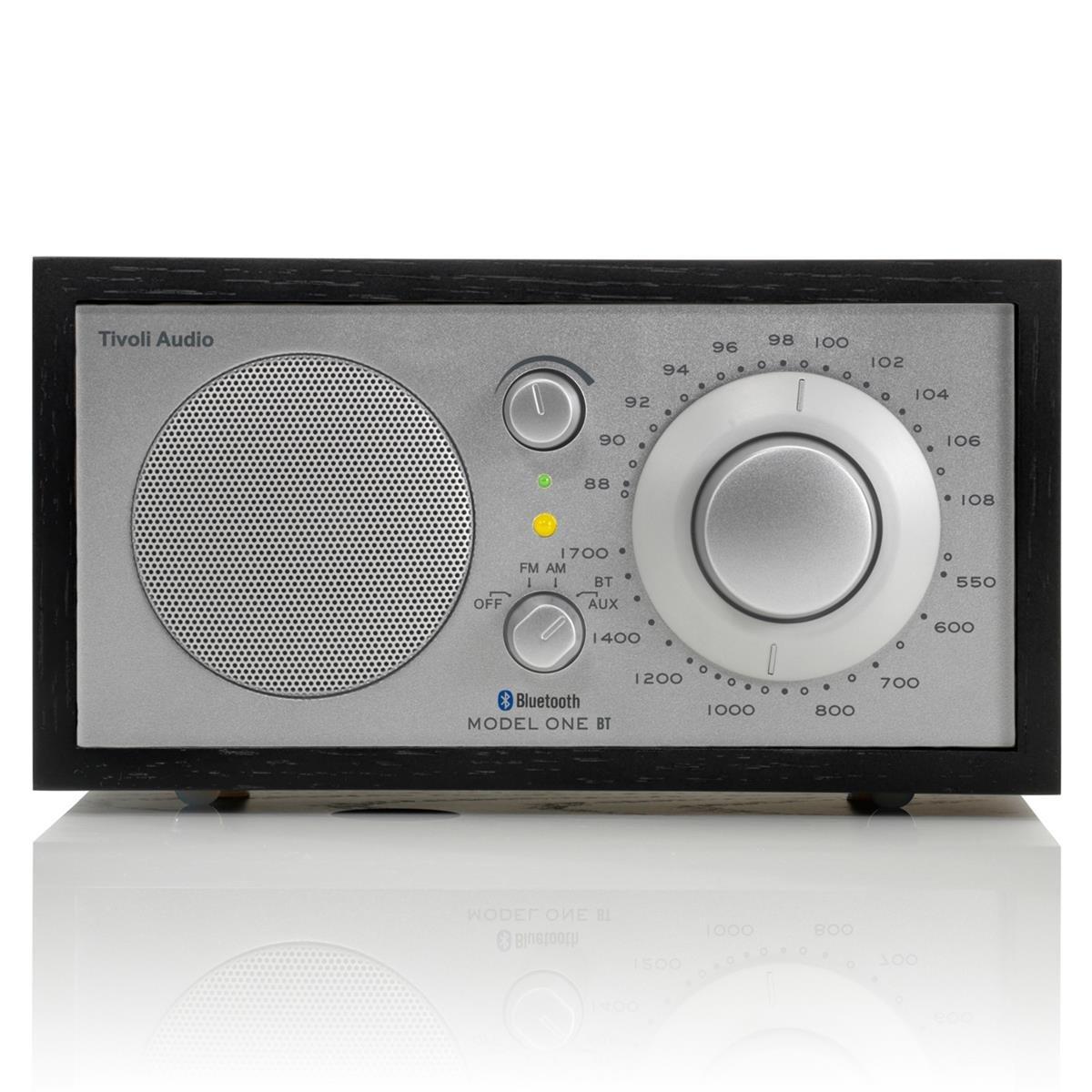 Tivoli Audio M1BTSLB Model One BT Bluetooth AM/FM Radio (Black Ash/Silver) by Tivoli Audio