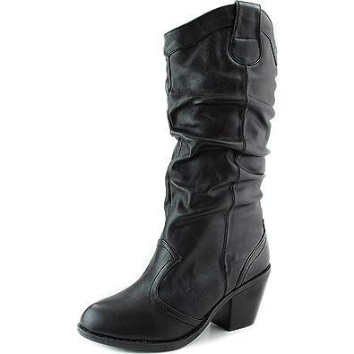 Amazon.com   Women\'s Western Slouch Cowboy Combat Ankle Booties ...