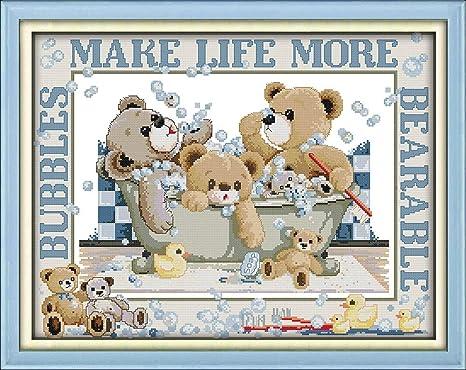 Animal Bear Needlepoint Kit or Canvas