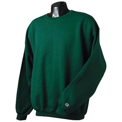 Champion Adult 50/50 Crewneck Sweatshirt, Dark Green - Size Large