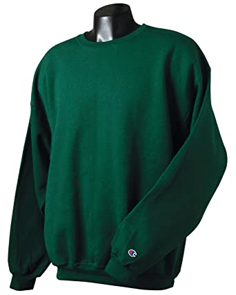 Amazon.com: Champion Adult 50/50 Crewneck Sweatshirt, Dark Green ...